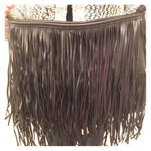 Black Fringe H&M Bag